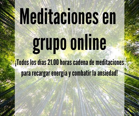 Meditaciones online en grupo